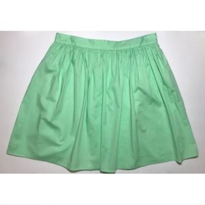Victoria Secret Flared Pleated Mini Skirt Green
